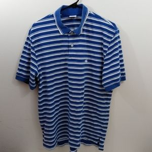 Men's L Brooks Brothers 346 blue striped polo
